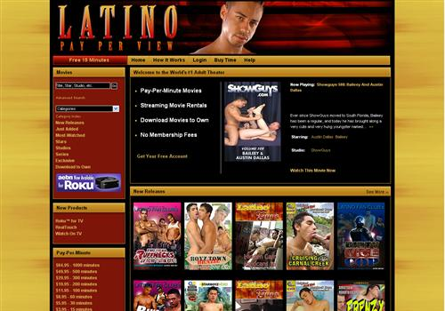 Gay latin pay-per-minute porn movies and full-length gay videos.