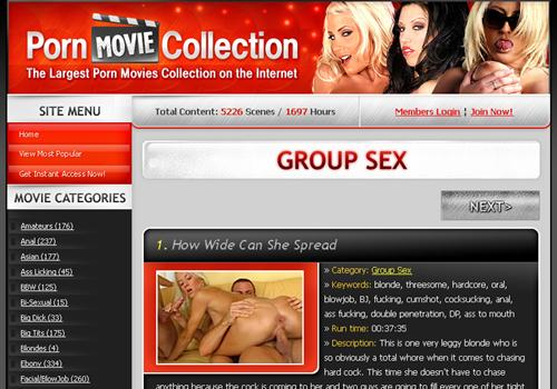 Buy membership to porn site Group Sex Porn Movie Collection - unlimited ...