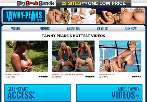 Score exclusive big bust model, Tawny Peaks complete collection of images ...