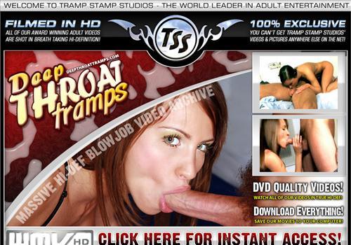 Buy membership to porn site Deep Throat Tramps - Downloadable blowjob porno ...