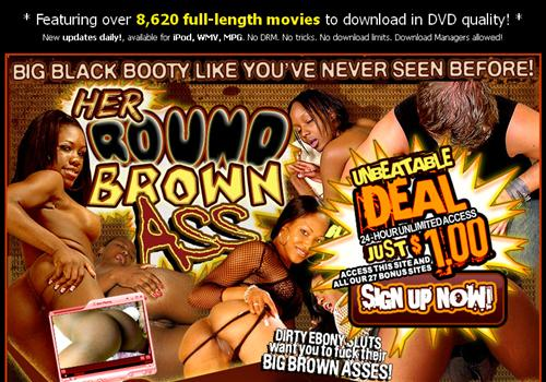 Buy membership to porn site Her Round Brown Ass - Black girls anal sex ...