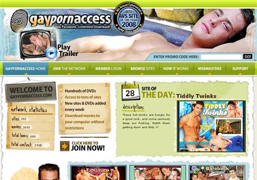 Gay Porn Access offers you biggest network of male sex paysites for only ...