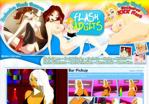 Buy membership to porn site FlashForAdults - Sexy flash animations