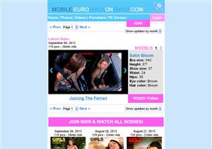 Euro Girls on Girls Mobile