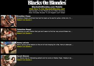 Blacks On Blondes Mobile